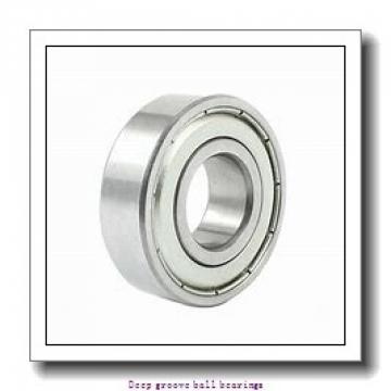 4 mm x 16 mm x 5 mm  skf W 634-2RS1 Deep groove ball bearings