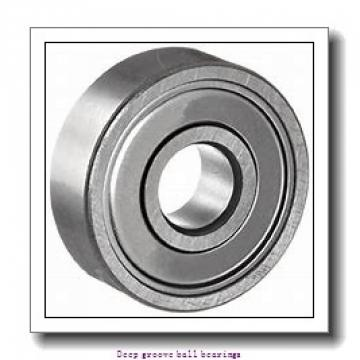 9.525 mm x 22.225 mm x 7.142 mm  skf D/W R6 R-2RZ Deep groove ball bearings