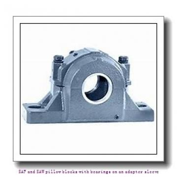 4.438 Inch | 112.725 Millimeter x 8.125 Inch | 206.375 Millimeter x 6 Inch | 152.4 Millimeter  skf SAFS 22526 SAF and SAW pillow blocks with bearings on an adapter sleeve