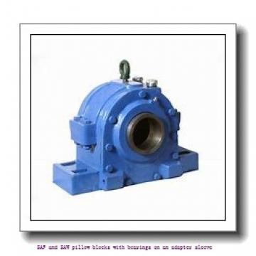 skf SAFS 23026 KAT x 4.3/8 SAF and SAW pillow blocks with bearings on an adapter sleeve