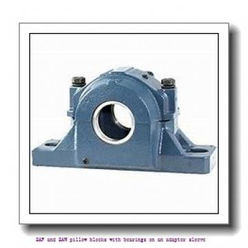 skf SAFS 23040 KAT x 7.3/16 SAF and SAW pillow blocks with bearings on an adapter sleeve