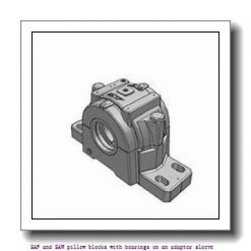 skf SAF 1617 TLC SAF and SAW pillow blocks with bearings on an adapter sleeve