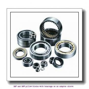 skf SAF 22622 x 4 TLC SAF and SAW pillow blocks with bearings on an adapter sleeve