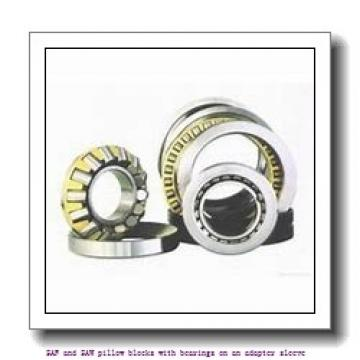 skf SAF 22620 x 3.3/8 SAF and SAW pillow blocks with bearings on an adapter sleeve