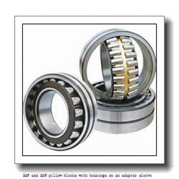 skf SAFS 23026 KAT x 4.7/16 SAF and SAW pillow blocks with bearings on an adapter sleeve